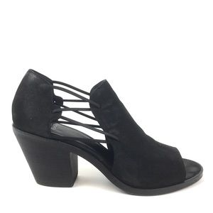 Eileen Fisher Nikki bootie sandal leather peep toe